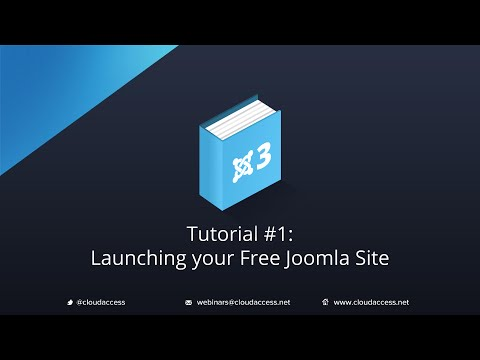 Getting Started with Joomla 3 & CloudBase 3: Launching a Free Joomla Site - Tutorial #1