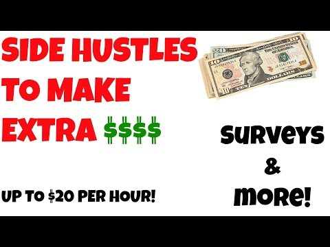 4 Side Hustles to Make Extra Money Online TODAY - Up to $20 Per Hour