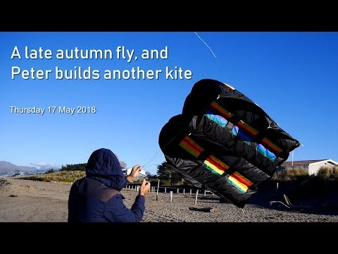 A late autumn fly, and Peter builds another kite