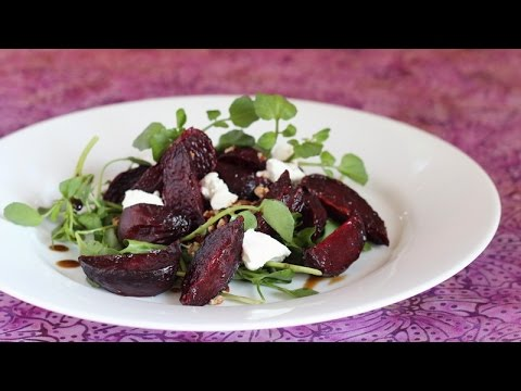 Roasted Beets, Watercress, Goat Cheese