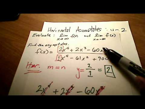 Calc I: Horizontal & Vertical Asymptotes with Limits @ Infinity