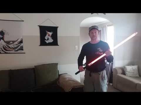 Lightsaber LED string blade demo