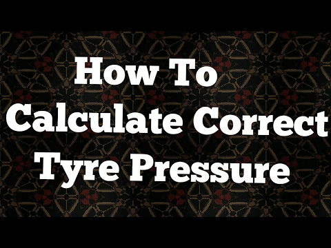 How to Calculate Correct Tyre Pressure in Road bike or MTB Tyres
