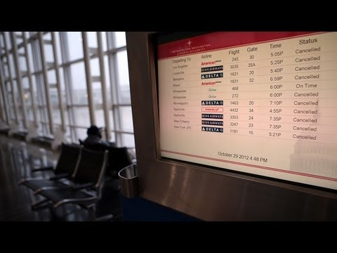 Over 14000 Flights Cancelled in Hurricane Sandy Aftermath