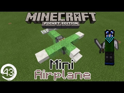 Minecraft Pocket Edition Redstone Tutorial: How to build a Mini Plane in Mcpe 15.0+