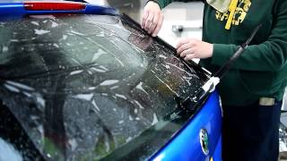 How To Reverse Roll A Back Window When Window Tinting