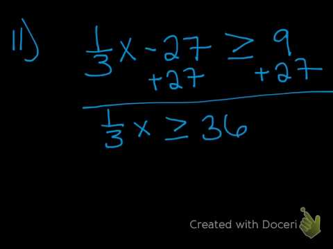 inequalities quick check
