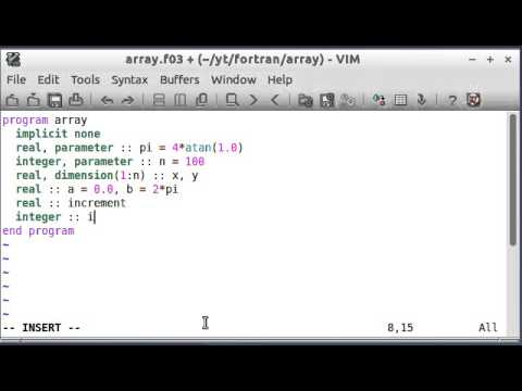 Modern Fortran by Example (5) Arrays and Plotting Part 1