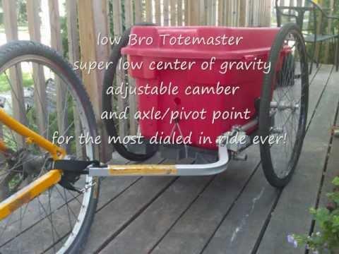diy Low Bro totemaster flatdeck bicycle trailer by lovetrain bike trailers