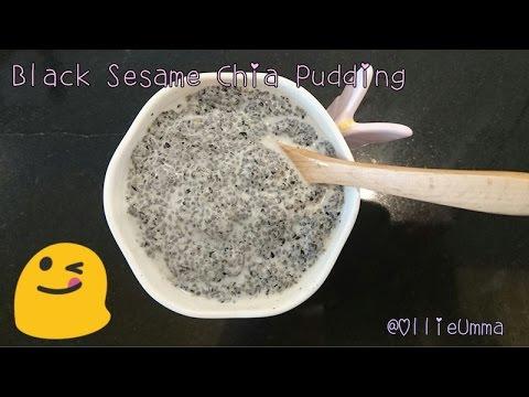 Black Sesame Chia Pudding by Ollie Umma