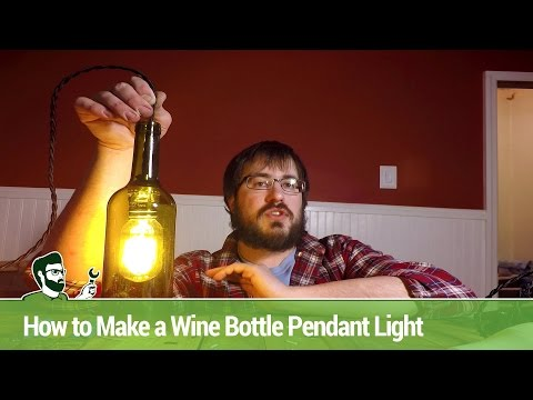 How to Make a Wine Bottle Pendant Light
