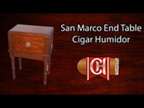 The San Marco End Table Cigar Humidor
