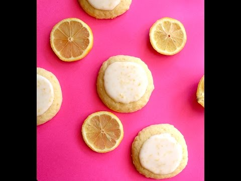 Soft Glazed Lemon Cookies - Easy 5 Ingredient Recipe