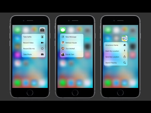 iPhone 6S 3D Touch Demo