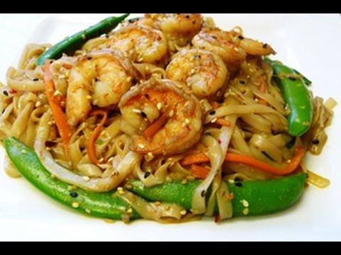 Rice Noodles and Shrimp Stir Fry
