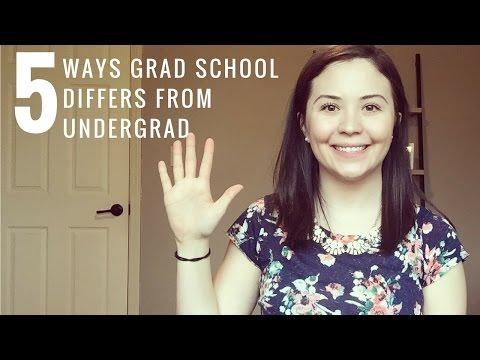 5 Ways Grad School Differs from Undergrad