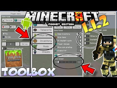 MINECRAFT PE 1.4 TOOLBOX MOD REVIEW - MCPE 1.4 TOOL BOX ADDON/ TOOMANY ITEMS