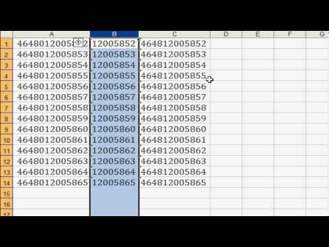 Excel Trick - How To Remove Selected Digit From Big Digit