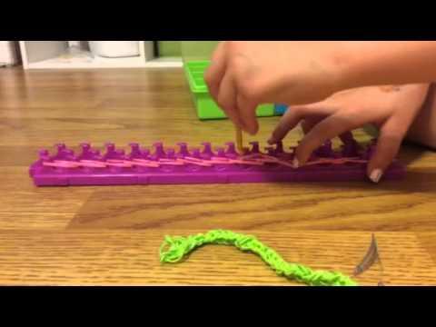 rainbow loom hair clips