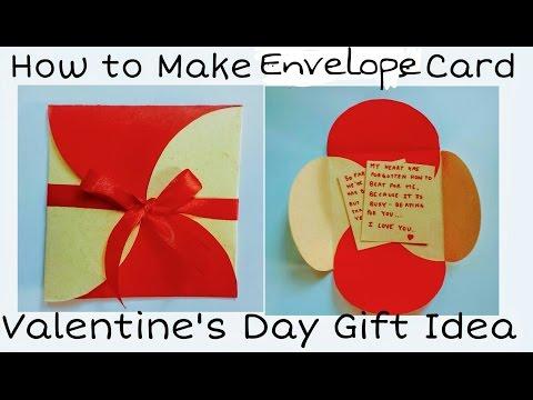 How to Make Envelope Card | Valentine's Day Card for Boyfriend / Girlfriend