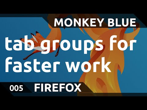 Firefox: tab groups for better overview