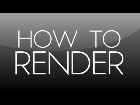 After Effects Tutorial: How To Render