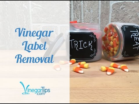 Remove Sticky Labels with Vinegar!