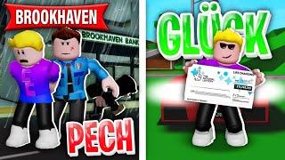 GLÜCK vs PECH Tag in BROOKHAVEN! 🤫 (Roblox Brookhaven 🏡RP | Story, Geschichte Deutsch)