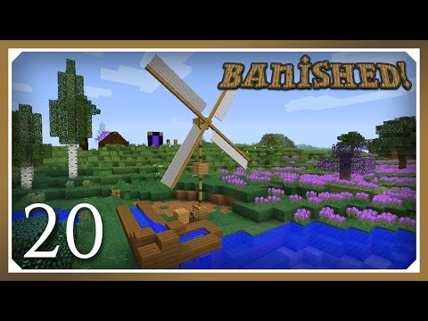 Minecraft Banished Modpack | Screw Pump & Moving Water | E20 (Harsh Survival Minecraft 1.10.2)