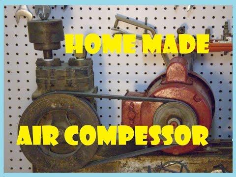 How to build a homemade air compressor.