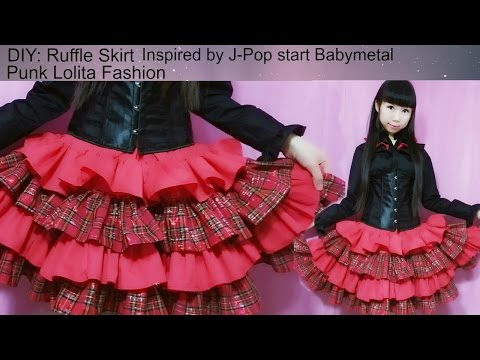 DIY:Sew a ruffle skirt-inspired by Jpop star babymetal-punk lolita fashion