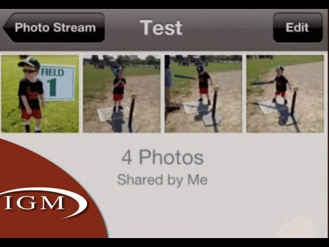Shared Photo Stream albums via Web, iOS - iOS 6 Preview