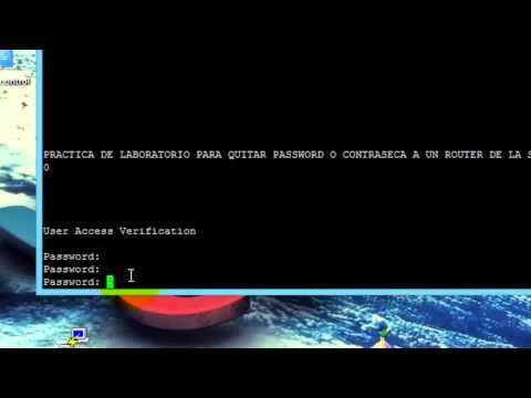 Quitar password router cisco serie 1800 1 parte