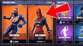 Fortnite *NEW* Legendary Criterion and Red Knight Skins! (Fortnite Battle Royale)