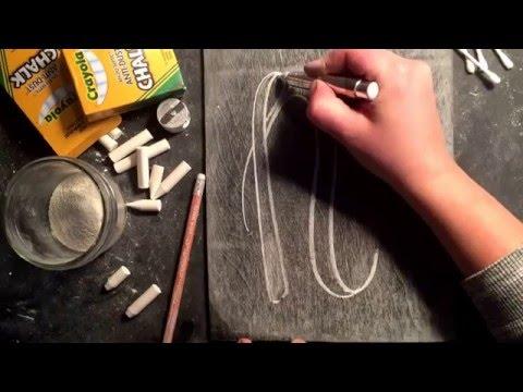SheShe Design Chalk Script Lettering UPPERCASE N