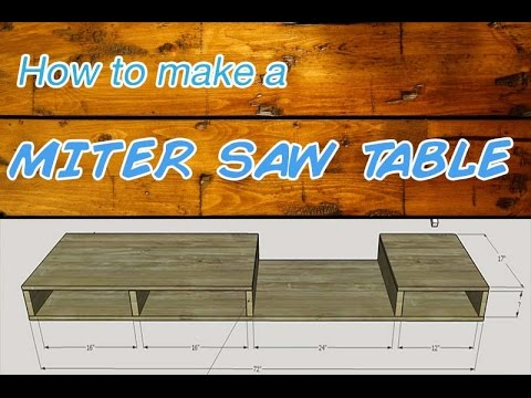 How to Make an Easy Miter Saw Table