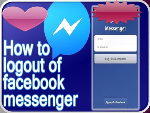 how to logout from Facebook messenger iPhone 4/4s