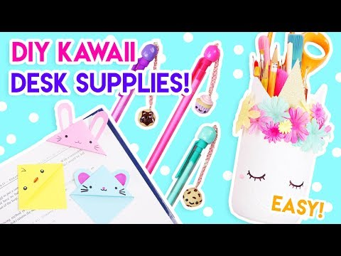 DIY Kawaii Desk + School Supplies (Quick and Easy)! 😄