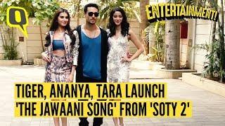 Download 'SOTY 2' Actors Tiger, Ananya, Tara at Launch of 'The Jawaani Song' | The Quint Video