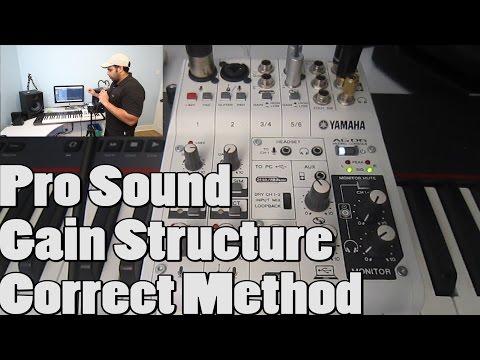 Pro Sound Gain Structure Correct Method