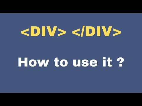 How to use div with css class in html