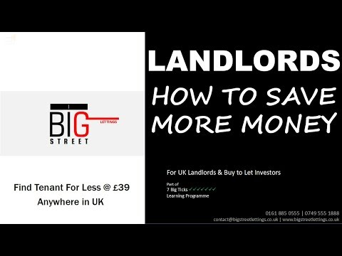 Landlords, How to Save Money | BIG STREET LETTINGS