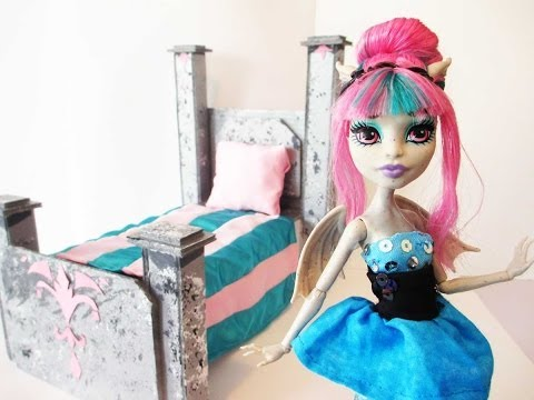 How To Make A Rochelle Goyle Doll Bed Tutorial/Monster High