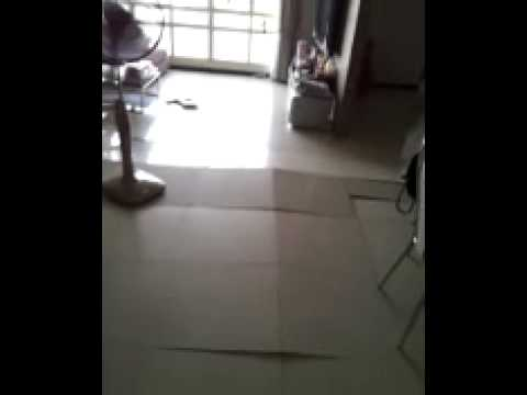Shocked resident captures footage of HDB floor tiles popping on camera (original video)