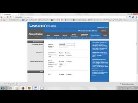 How to set password to Linksys Wireless G BroadBand Router WRT54G