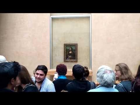 Mona Lisa The Original Painting in Louvre Museum Paris France