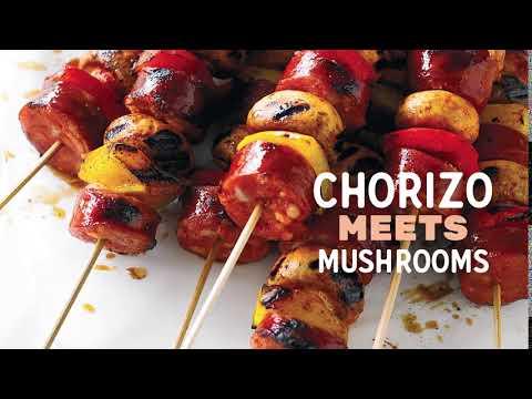 Summer Mushie Mash-ups (Mushrooms/Chorizo)