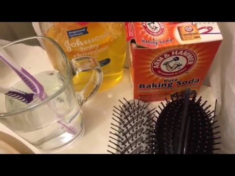 How to  Clean Your Toothbrushes, Hairbrushes & Hair Accessories