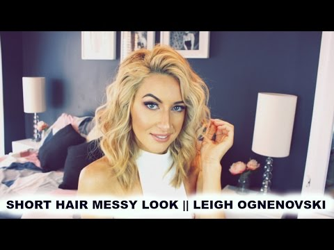 SHORT HAIR TOUSLED WAVE CURLS // LEIGH OGNENOVSKI