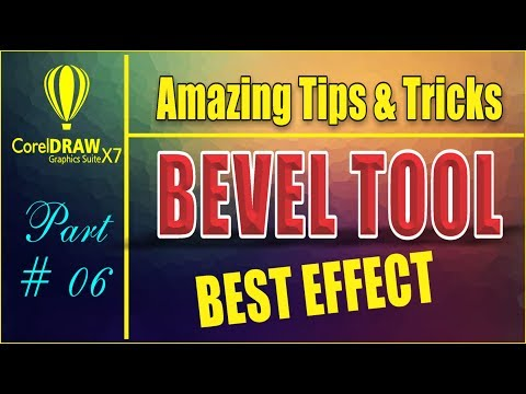 Coreldraw x7 - Amazing Tips & tricks - How to Create Text Effect Using - Bevel Tool - Best Tutorial